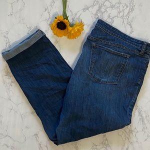Gap premium boyfriend distressed jeans 18 34 18r